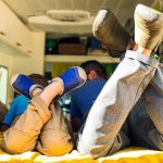 Traveling shoes for families in RV